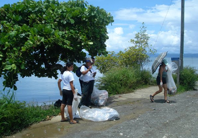 The beach cleanup was led by Lapa Rios Lodge