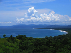 A photo overlooking the Golfo Dulce, Costa Rica.
