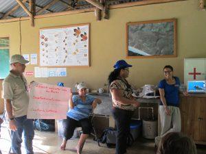 Presentaciones durante taller.