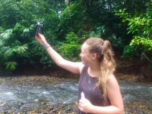 Megan performs a pH test from a water sample
