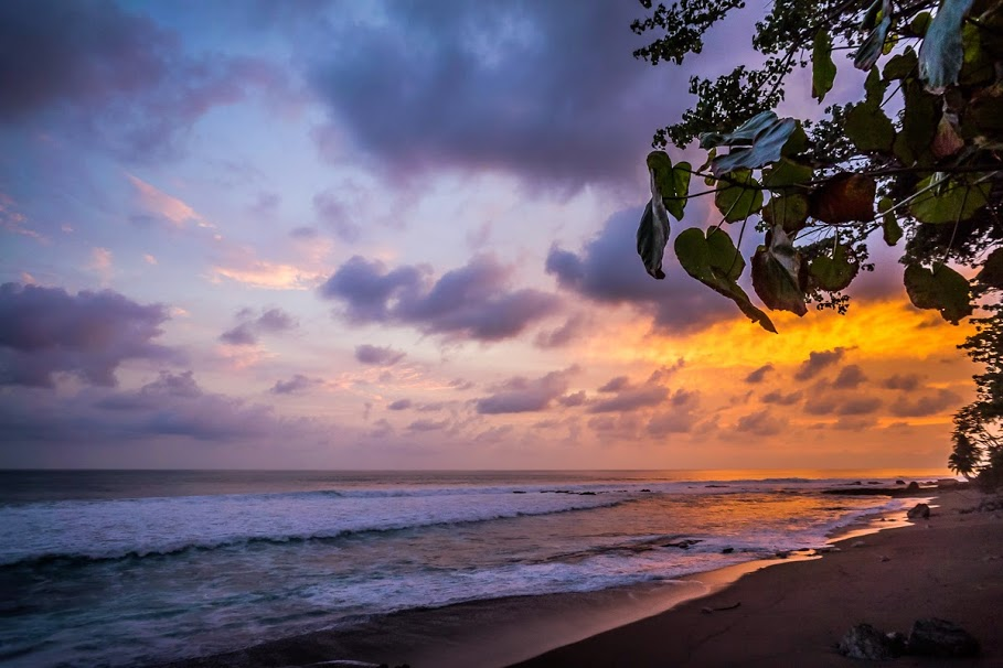 A Beach in the Osa during Sunset; Photo by Frank Uhlig